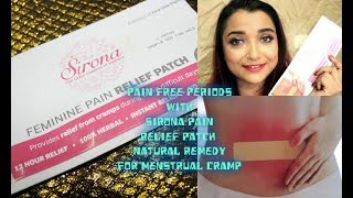 Pain Free Periods With Sirona Pain Relief Patch  Natural Remedy for Menstrual Cramp