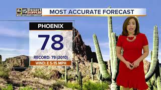 High almost to 80 degrees in Phoenix