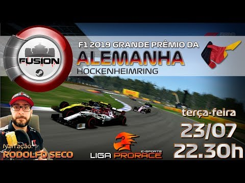 F2 2019 ESPORTS | GRANDE PRÊMIO DA ALEMANHA 2019 | F2 2019 PC FUSION | LIGA PRO RACE ESPORTS