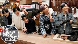 BTS and Jimmy Serve Katz's Deli Pastrami Sandwiches in NYC