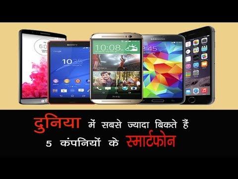 दुनिया में सबसे ज्यादा बिकते हैं 5 कंपनियों के स्मार्टफोन…// World's top 5 Mobile Phone Companies
