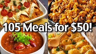 105 Meals for $50 for 1 week! Budget Grocery Haul And Meal Plan -