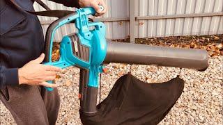 Воздуходувка пылесос Gardena Ergo Jet 3000 / Уборка листвы / варианты использования