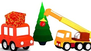 Новогодние мультики для малышей. 4 машинки. Наряжаем ёлку. 3d мультфильм