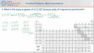 Chemistry Practice Problems: Mole Calculations