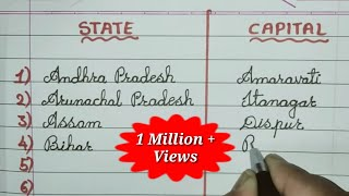 Write State and Capital Names in  India // General Knowledge for Students