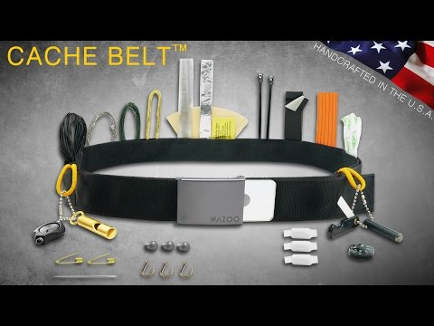 HOLY COW! New – EDC Wazoo Cache Survival Belt – Survival Kit – Money Belt, Travel Tool