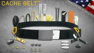 HOLY COW! New - EDC Wazoo Cache Survival Belt - Survival Kit - Money Belt, Travel Tool