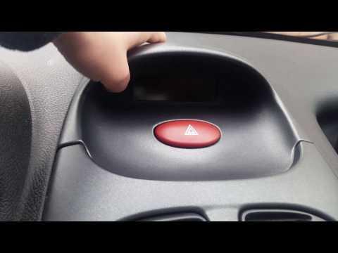 Peugeot 206 Display Beleuchtung Birne wechseln