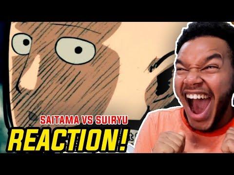 One Punch Man Season 2 Episode 7 REACTION! SAITAMA VS SUIRYU!!!