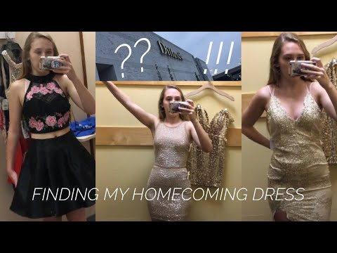 HOMECOMING DRESS SHOPPING!!