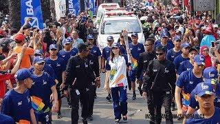 Prosesi Kedatangan dan Penyerahan Obor Asian Games 2018 di Kebun Binatang Ragunan