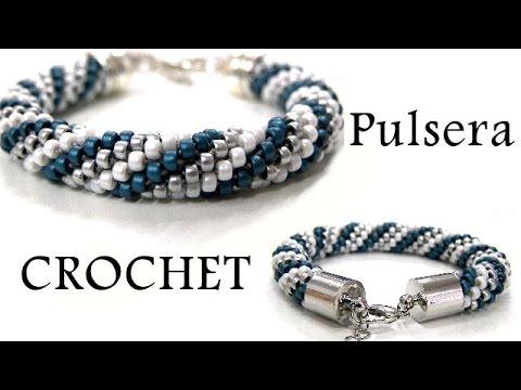 Abalorios - Como hacer una pulsera de Crochet