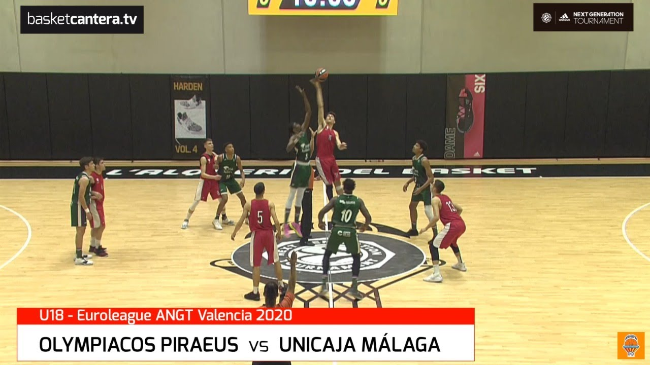 U18M - OLYMPIACOS vs UNICAJA MÁLAGA.- Euroliga. Adidas Next Generation Tournament (Valencia 2020)