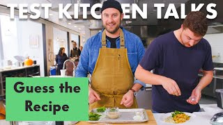 Join Carla Lalli Music, Alex Delany, Sohla El-Waylly, Amiel Stanek, Molly Baz, Rick Martinez, Brad Leone and Claire Saffitz for another episode of Test Kitchen Talks. This time, we took the advice of viewer Kylee Hill, who on an earlier video suggested: 'They should give each chef a recipe with all the ingredients measured out in front of them. The catch is they don't know what the recipe is.' That was a good idea, Kylee, so we did that.  Want Bon Appétit shirts, hats and more? https://shop.bonappetit.com/?utm_source=youtube&utm_brand=ba&utm_campaign=aud-dev&utm_medium=video&utm_content=merch-shop-promo