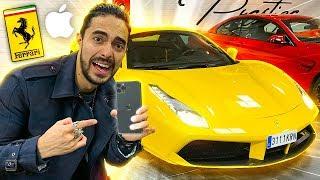 Probando El iphone 11 Pro Max En Un Ferrari 😱