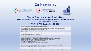 Blended Finance in Action: SDG Finance in Small Island Developing States - UNGA 76th Session