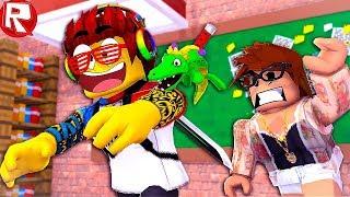 РОБЛОКС КАК Я СБЕЖАЛ С УРОКА! ПОБЕГ ИЗ ШКОЛЫ В ROBLOX видео симулятор веселая мини игра для детей