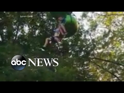 Teen's fall from Six Flags 'sky ride' captured on video