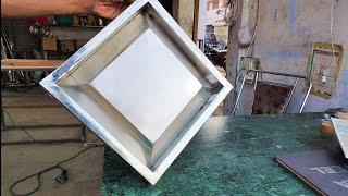 manual bending plate sliding Stainless Steel door || manual bending technique sliding doors