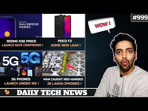 Redmi K30 Price,5G Phones Under 15k,Poco F2,Hikemoji,Man Caught With 26 Lakhs Iphones,Huawei Ban#999
