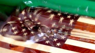 Kundentutorial: Amerikanische Flagge Holz Schneidebrett Küchenbrett mit CNC Fräsmaschine hergestellt