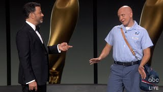 Jimmy Kimmel's Odd New Mailman at the Emmys