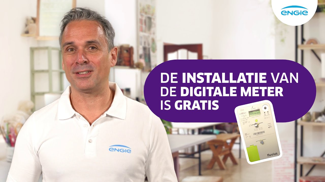 De installatie van de digitale meter is gratis.