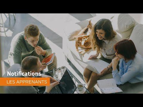 Naviguer dans Environnement d'apprentissage de Brightspace - Notifications - les apprenants