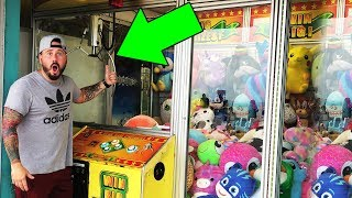 WINNING FROM A ROOM SIZE CLAW MACHINE (BIGGEST EVER) Claw Machine Arcade Wins