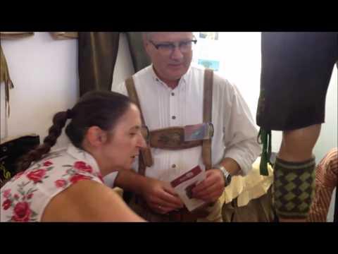 Interview mit Heidi Münch Fa. Lederhosenmanufaktur Aigner, Trachtenmarkt in Krumbach 2018