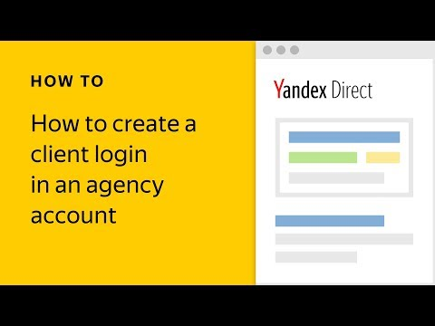 How to create a client login in an agency account