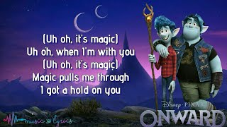 Onward Disney and Pixar Trailer Song by The Cars - Magic (Lyrics)