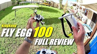 KINGKONG FLY EGG 100 Mini FPV Race Drone Full Review - Unboxing, Flight/CRASH Test, Pros & Cons