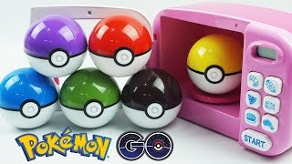 Download Youtube: Learn Colors with Pokemon GO! Slime Clay Surprise Toys with Cooking Microwave Oven Playset