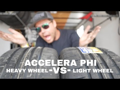 Cheap drift tire challenge #5: Accelera PHI / light wheel vs heavy wheel!