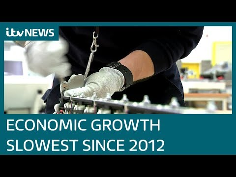 UK economic growth slowest since 2012 | ITV News