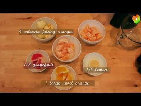Video Juice Recipes - GLO Grapefruit Lemon & Orange