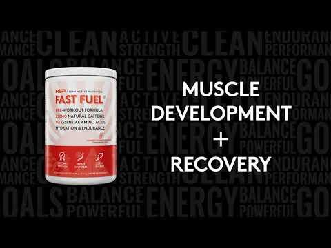 RSP Nutrition, FastFuel, Fórmula preentrenamiento, Hidratación y resistencia, Ponche de la isla de Jamaica, 330g (11,64oz)