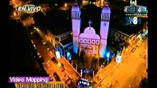 Video Mapping Catedral San Isidro La Ceiba 22-05-2016