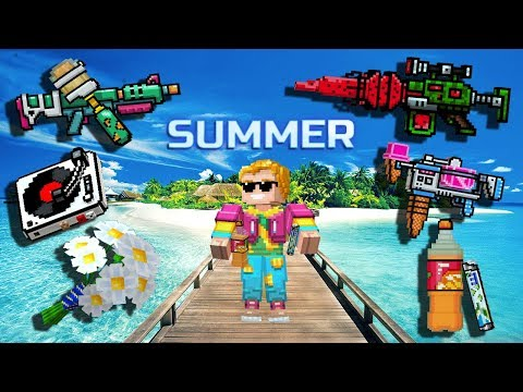 Summer Weapons - Pixel Gun 3D Set Gameplay