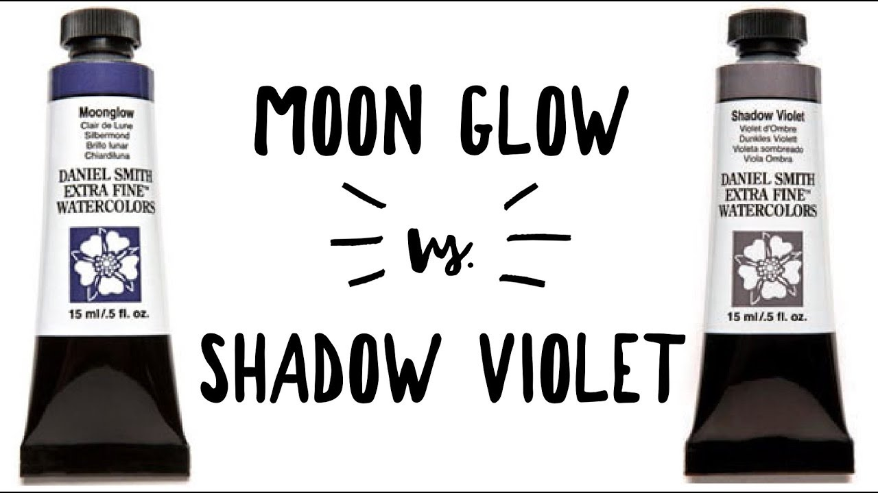 Daniel Smith Color Showdown Ep 1: Moonglow and Shadow Violet