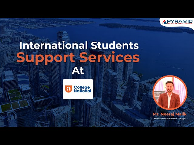 Student support services provided by College National Canada