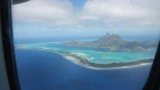 Flying from Tahiti to Bora Bora via Air Tahiti airlines