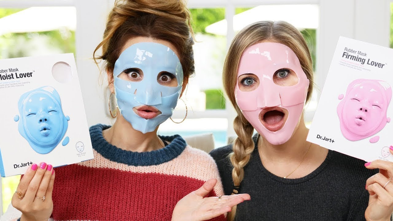 Trying Different Face Masks - Part 2 w/ iJustine! thumbnail