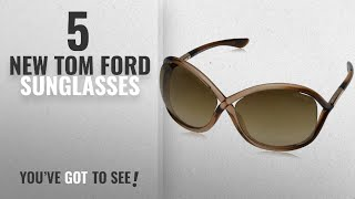 Top 10 Tom Ford Sunglasses [ Winter 2018 ]: Tom Ford Whitney Tf9 74f Metallic Brown Gradient