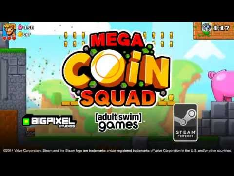 Mega Coin Squad Gameplay Trailer from Adult Swim Games | Adult Swim thumbnail
