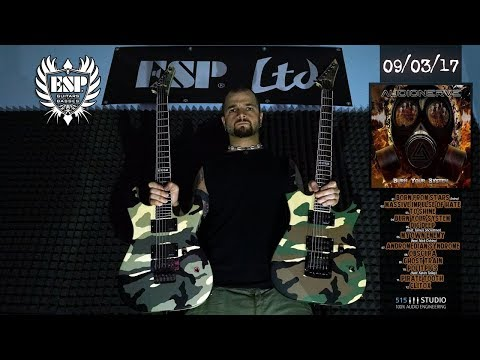 ESP M-II Camo Series riff showdown