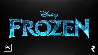 Tutorial Photoshop: Efeito De Texto Frozen (Disneys Movie)