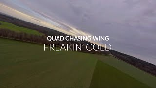 FREAKIN' COLD | AR Wing 900mm x FPV Quad with Gopro Session 5 x Reelsteady GO